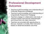 professional development outcomes