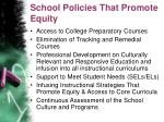 school policies that promote equity