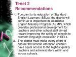 tenet 2 recommendations