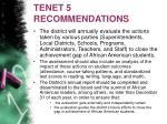 tenet 5 recommendations
