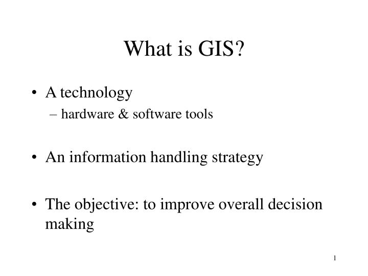 what is gis n.