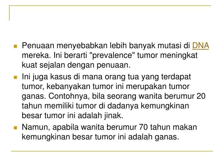 Penuaan menyebabkan lebih banyak mutasi di