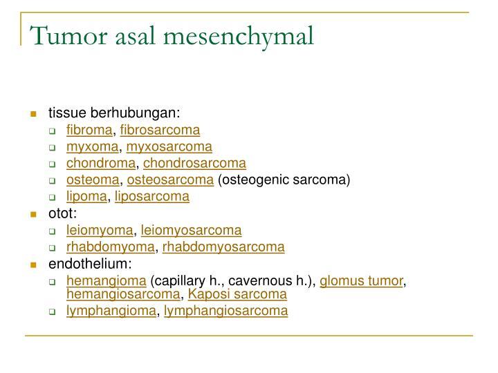 Tumor asal mesenchymal