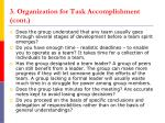 3 organization for task accomplishment cont