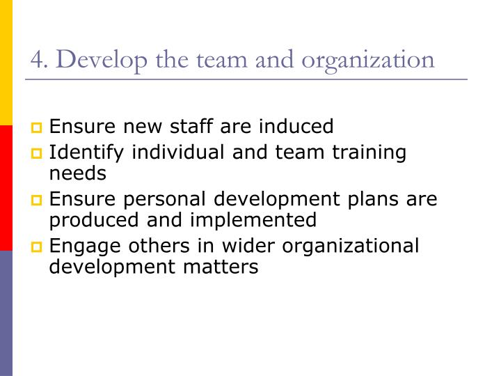 develop individuals and team Develop team and individuals assessment #1 developing a training needs analysis plan for a workplace team team purpose and goals: to improve customer services skills making the everyday running of dominos pizza more financially successful, in order for us to do we must first look at what is valued in terms of customer service.