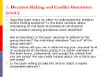 5 decision making and conflict resolution cont