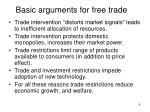 basic arguments for free trade