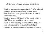 criticisms of international institutions