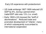 early us experience with protectionism