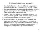 evidence linking trade to growth
