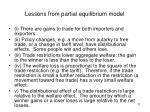 lessons from partial equilibrium model
