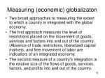 measuring economic globalizaton