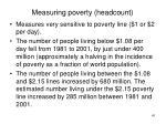 measuring poverty headcount