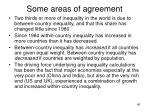 some areas of agreement