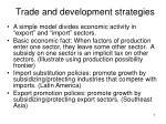 trade and development strategies