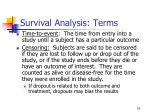 survival analysis terms