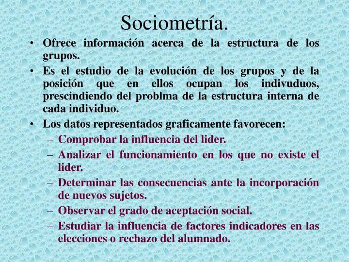 Sociometría.