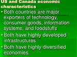 us and canada economic characteristics