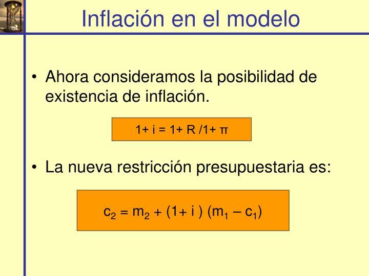Inflación en el modelo