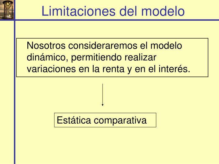 Limitaciones del modelo