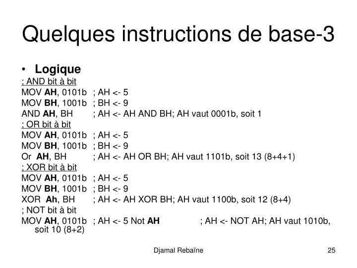 Quelques instructions de base-3
