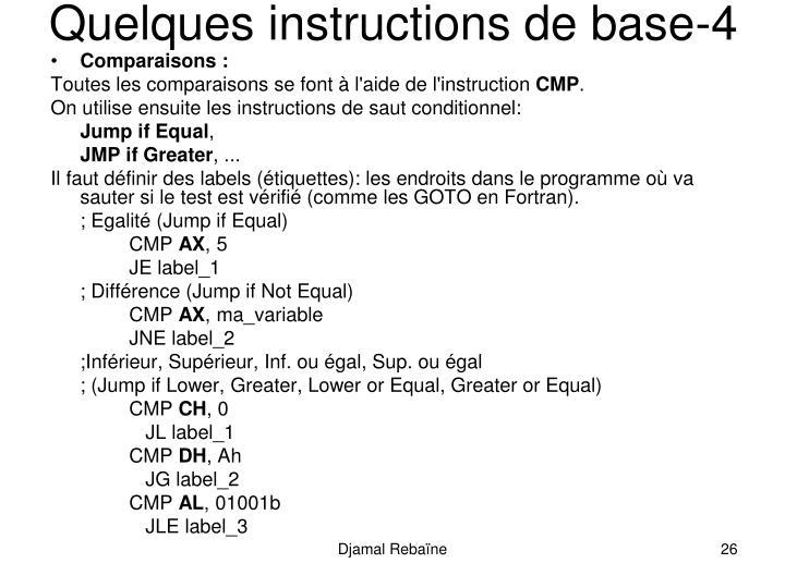 Quelques instructions de base-4