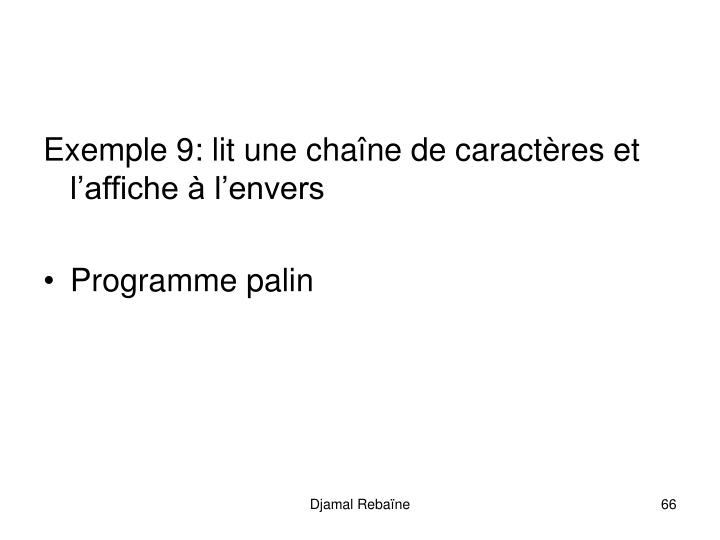 Exemple 9: