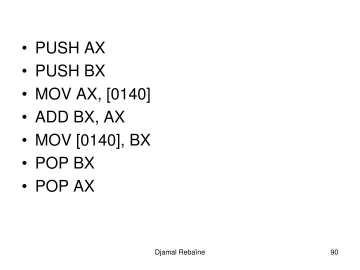 PUSH AX
