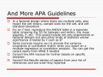 and more apa guidelines