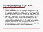 more guidelines from apa1