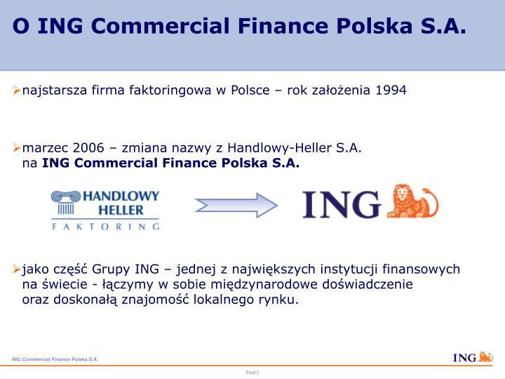O ing commercial finance polska s a