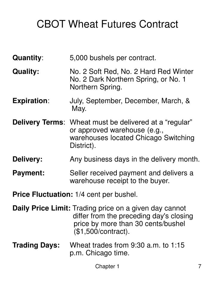 CBOT Wheat Futures Contract