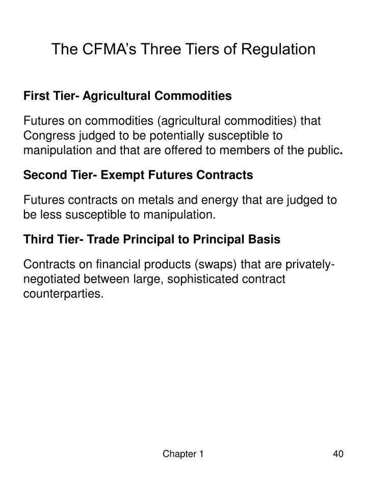 The CFMA's Three Tiers of Regulation