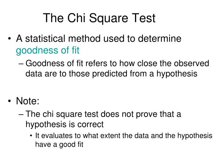 the chi square test n.