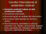consiliul interna ional al asisten ilor medicali1