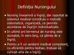 defini ia nursingului1