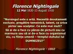florence nightingale 12 mai 1820 13 august 1910