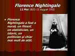 florence nightingale 12 mai 1820 13 august 191016
