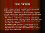rolul nurselor