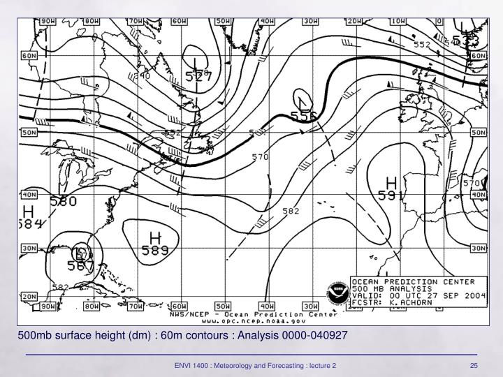500mb surface height (dm) : 60m contours : Analysis 0000-040927