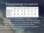 environmental correlations