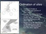 ordination of sites