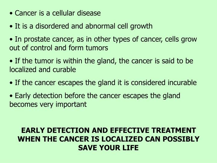 Cancer is a cellular disease