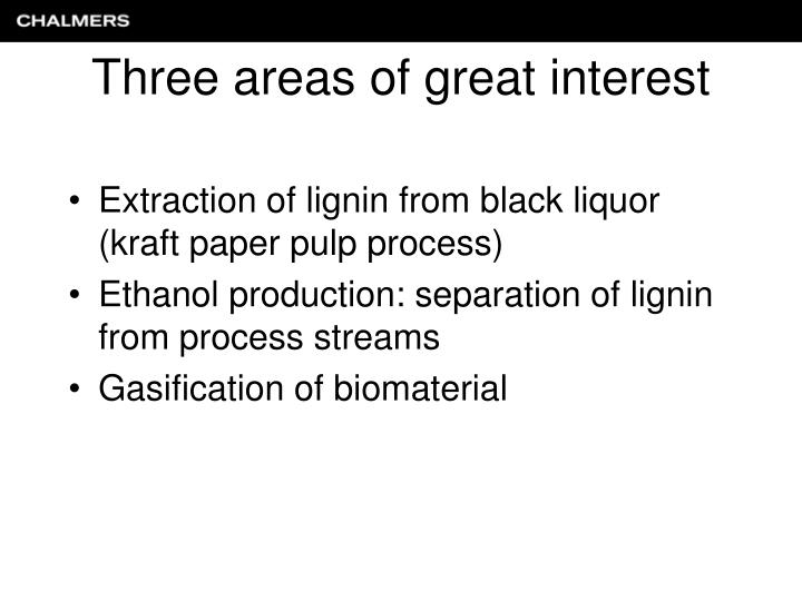 Extraction of lignin from black liquor (kraft paper pulp process)