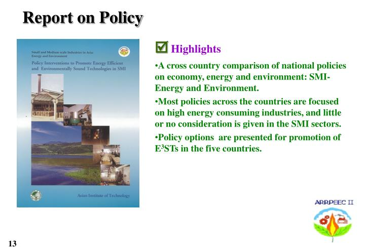 Report on Policy