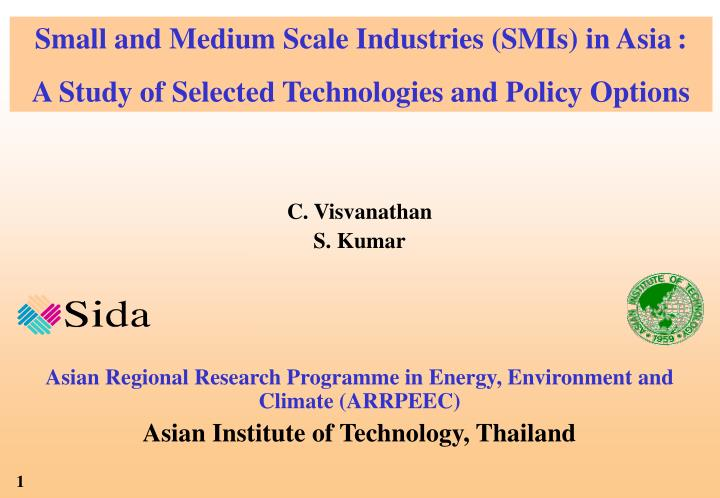 Small and Medium Scale Industries (SMIs) in Asia