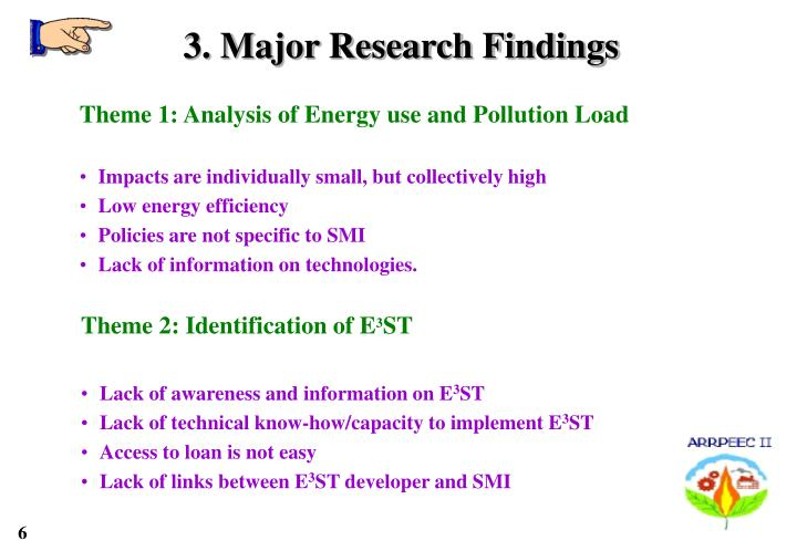 3. Major Research Findings