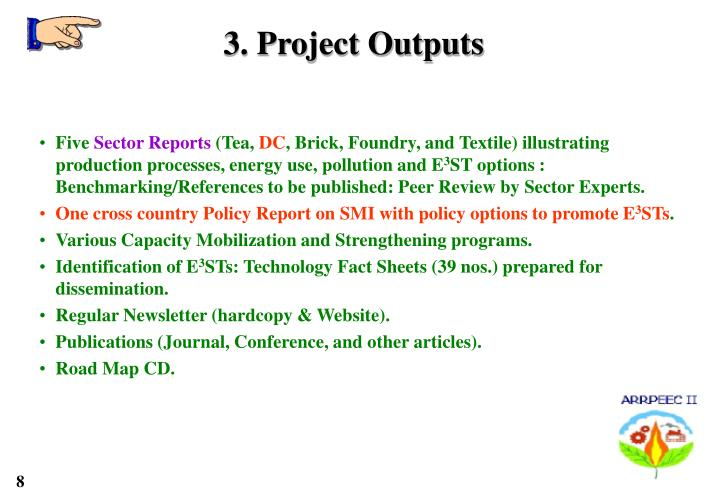 3. Project Outputs
