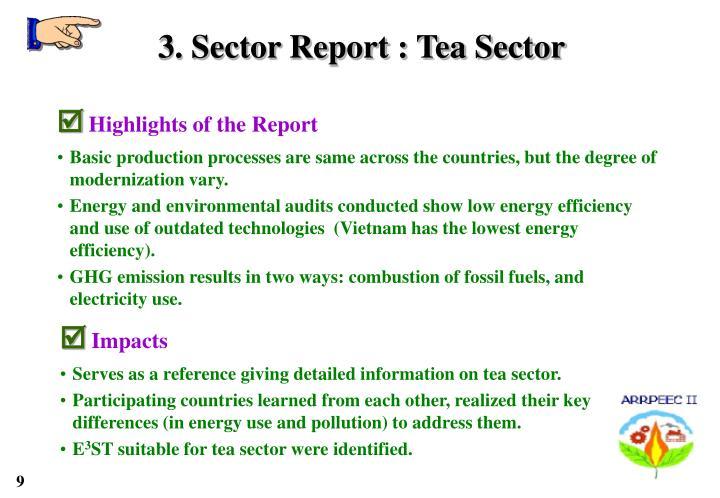 3. Sector Report : Tea Sector
