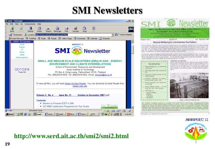 SMI Newsletters